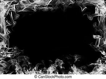 cornice, fumo nero, fondo