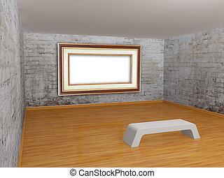 cornice, galleria, vuoto