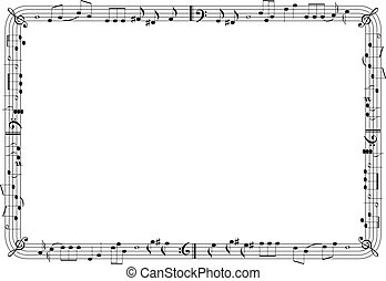 cornice, grafico, musicale