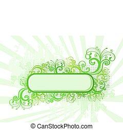 cornice, illustrazione, vettore, verde