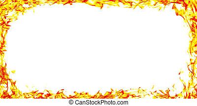 cornice incendio, sfondo nero, fiamme