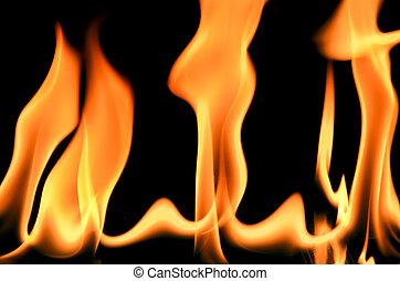 cornice incendio, sfondo nero