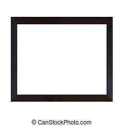 cornice, isolato, legno, sfondo nero, bianco