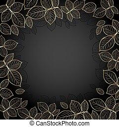 cornice, leaves., oro