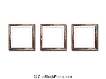cornice, legno, isolato, bianco