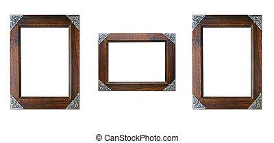 cornice legno, isolato