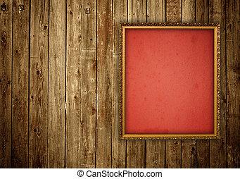cornice legno, parete