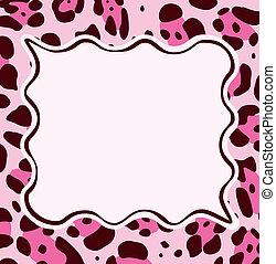 cornice, leopardo, astratto, struttura, pelle
