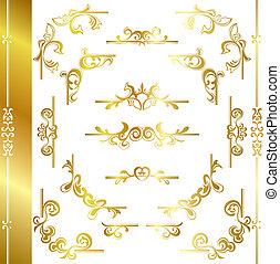 cornice, lusso, oro