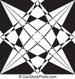 cornice, macchiato, elemento, vetro, sfondo nero, trasparente