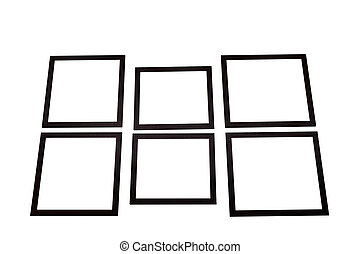cornice, nero, sfondo bianco