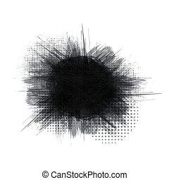 cornice, nero, trasparente, fondo, inchiostro