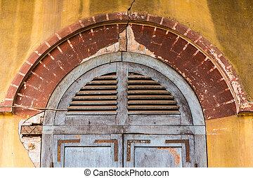 Cornice on door frame, colonial stye.