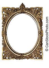 cornice, ovale, immagine