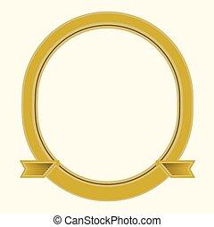 cornice ovale, vettore