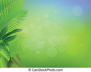 cornice, palma, fondo, albero