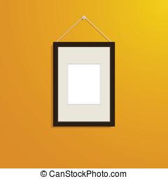 cornice, parete, immagine, decorare
