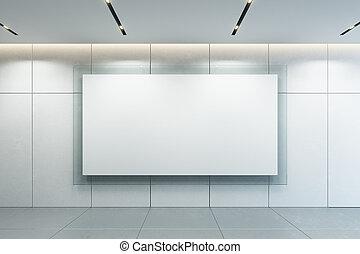 cornice, parete, interpretazione, vuoto, 3d