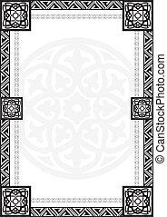 cornice, patte, arabo, geometrico