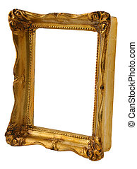 cornice, prospettiva, oro
