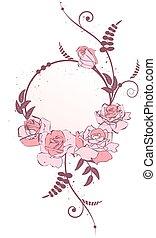 cornice, rose