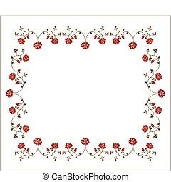 cornice, roses., retro