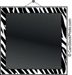 cornice stampa, zebra