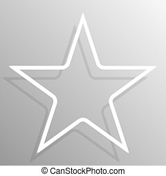 cornice stella, carta, sagoma, bandiere, design.