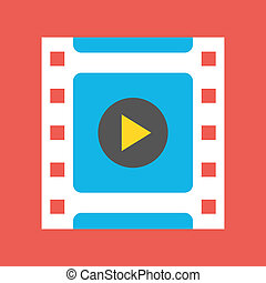 cornice, vettore, video, icona