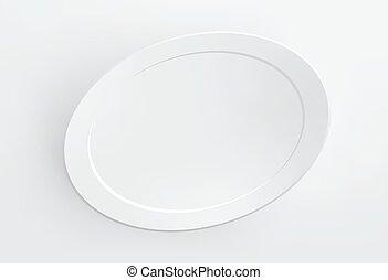 cornice, vuoto, bianco, vector., wall.