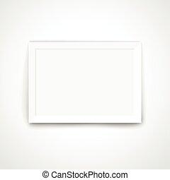 cornice, wall., contenuto, luminoso, sagoma, vuoto