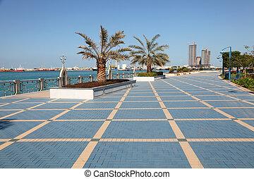 Corniche in Abu Dhabi, United Arab Emirates