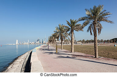 Corniche in Kuwait City, Middle East
