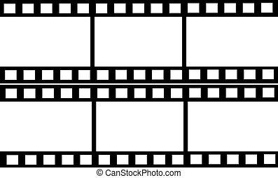 cornici, doppio, striscia cinematografica