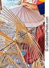 cornici, fatto mano, ombrello