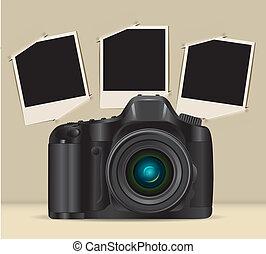cornici, macchina fotografica foto