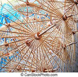 cornici, ombrello, fatto mano