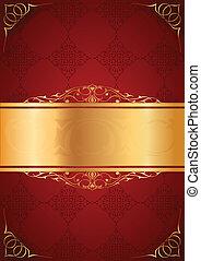 cornici, poco, sfondo rosso