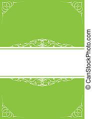 cornici, poco, verde, sopra, fondo