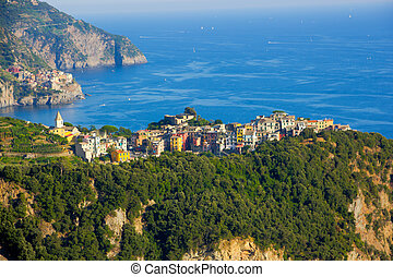 Corniglia from a distance