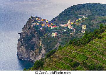 Corniglia old village in Cinque Terre, Italy