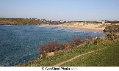 Cornish bay Crantock near Newquay - Crantock bay North...