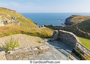 Cornish Castle at Tintagel Cornwall