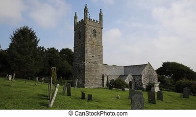 Cornish church St Mawgan in Meneage - Cornish church of St...