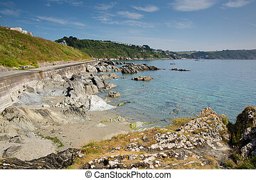 Cornish coast Looe Cornwall