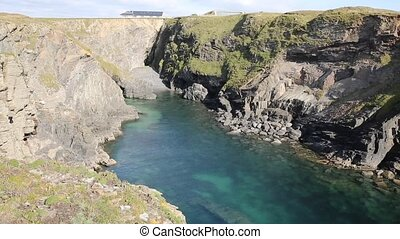 Cornish Cove north Cornwall coast - Pepper Cove on the...