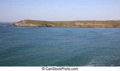 Cornish cove PAN Crantock Cornwall