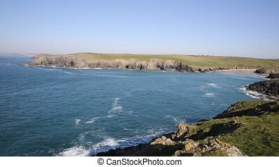 Cornish cove Porth Joke Cornwall uk - Porth Joke beach next...