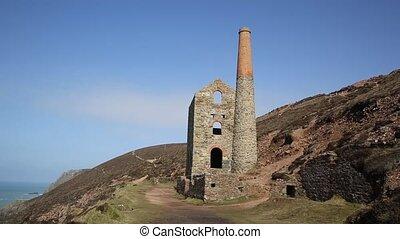 Cornish tin mine Cornwall UK - Cornish tin mine near St...