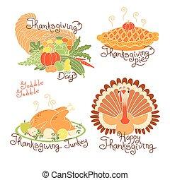 cornucopia, color, pastel, day., tradicional, fruits, ...